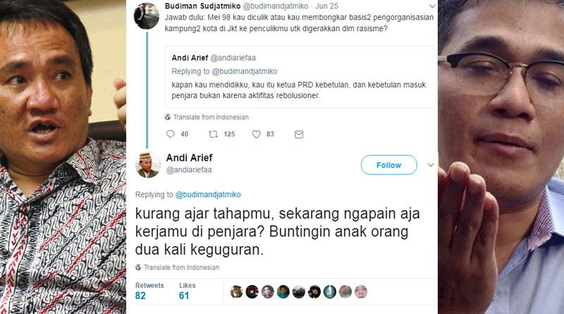 "Bodohnya Twitwar ""Bongkar Aib"" Andi Arief dan Budiman Sudjatmiko"
